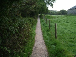 The next section of the path is about 400mm  wide with only room on the grass to pass other visitors.