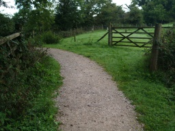 The amount of loose stone on the path varies in different places.