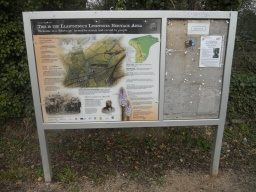 Visitor information and orientation is located at the site entrance.