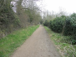 The path  is 2.8m wide and has been constructed to a high standard