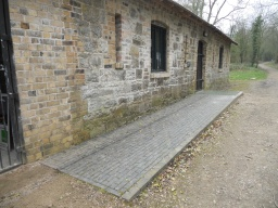 Ramped access to the stable block