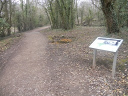 There are several interpretation panels describing the features of Llanymynech Limeworks.