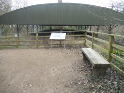 This is a good rest area with a great view over the Hoffman Kiln where visitors can learn more about the processes involved in the limeworks.