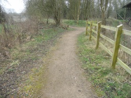 The path on the left follows the circular walk. Before doing so, it's well worth a short detour aound the Hoffman Kiln.