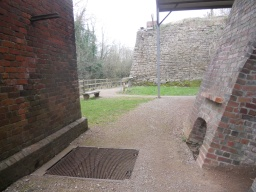 Another rest point and information board are located at the far end of the Hoffman Kiln.