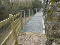 Wheelchair users may require assistance over the step level rise, if wishing to access the metal viewing platform.