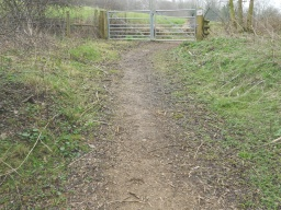 The path is steeper and more uneven on the approach to the wicket gate.