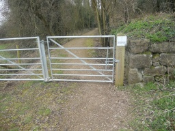 As before, this wicket gate can be opened in both directions and has different latches.