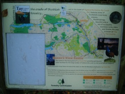 Information on walks in the area is given at the start of the trail.
