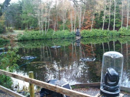 Lights and other equipment is present in the loch when the Enchanted Forest event is on.