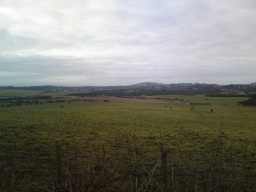 From the top of the Drum Road you get a great view of Cowdenbeath and the country side in between.