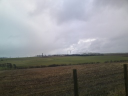 Looking towards the Mossmorran plant.