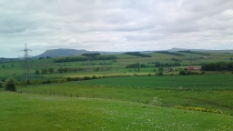 Looking towards the Lomond Hills.