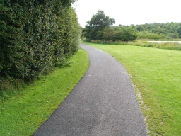 The tarmac path is clearly defined from the adjoining grass.
