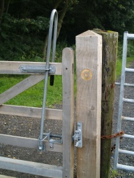 The latch can be operated at various heights and does not require a lot of strength to use.