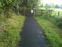 The wicket gate can be accessed relatively easily, although it only opens in the direction of the path.