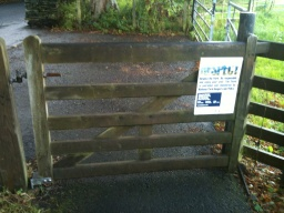 The gate does not have any latches so it is easier to open.