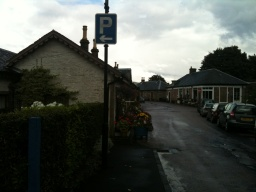 Cross the road and take the next left onto School Road.