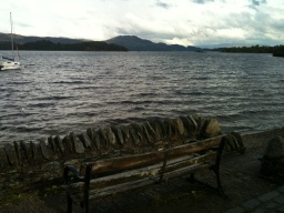 There are four seating areas alongside the Loch.