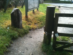 The gap between the post and the field gate was 900mm, which some visitors may find restrictive.