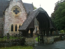 Luss Church is on your left hand side.