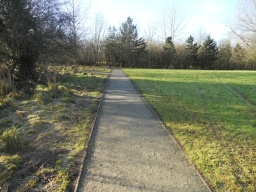 The width of the path is 1.6 metres throughout. The surface is well compacted and is for the most part very level.