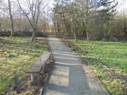 There are several benches spaced at regular intervals along the route.