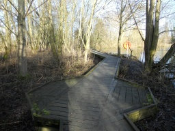 The boardwalk is approximately 35 metres in length with one passing place, located here.