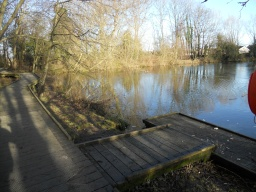 The boardwalk features a dipping platform which involves two steps measuring 10cm