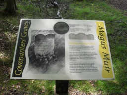 There is an information board with the history of the site.