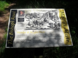 There is another information board with history of the site