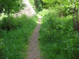The path narrows to 500mm for approximately 40 metres