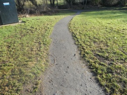 At its steepest, the path gradient reaches 10%, 1:10 although this is only over a distance of about 15 metres.