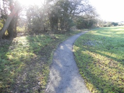 The path width is 1200mm throughout the site, although in places encroaching vegetation has made the path slightly narrower.