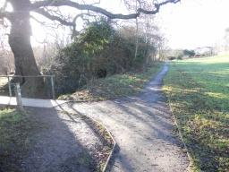 Turn left on to the footbridge.