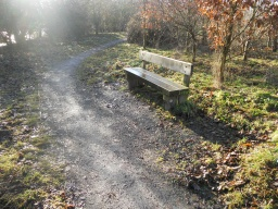 There are three seating areas on the circular walk.