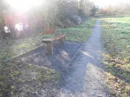 Benches are well constructed and placed off the main path, with sufficient room for wheelchair users to sit alongside.