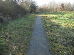 The path narrows to approximately 1 metre  due to encroaching vegetation.
