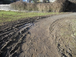 Visitors may encounter rougher, muddier ground on this part of the trail.