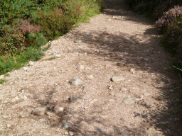 There are further areas of stoney, uneven path