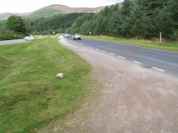 Turn left and follow the road for about 400m to get back to the Glenmore Forest Visitor Centre .Take care if cars are parked and force you to walk on the edge of the road.