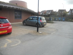 There are three designated parking bays for disabled visitors, situated next to the entrance to the visitors centre. Each parking space has plenty of room from which to transfer.