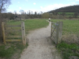 There are several wicket-gates along the path, some of which have been left open.