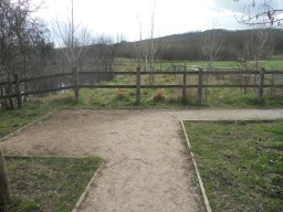 Another wider area of the path allows two wheelchairs to pass each other.