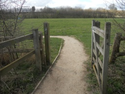 Go through the wicket-gate and bear left.
