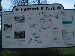 There are large information boards located at several places around the park.