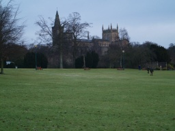 There are fine views of Dunfermline Abbey from the park.