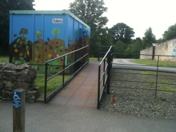 The toilets are located beside the car park and the start of the trails, there is an accessible toilet