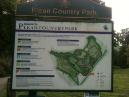 There is an information board which shows the trails and information leaflets regarding the country park are available from a dispenser under the information board