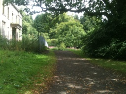 The path passes by the ruins of Plean House